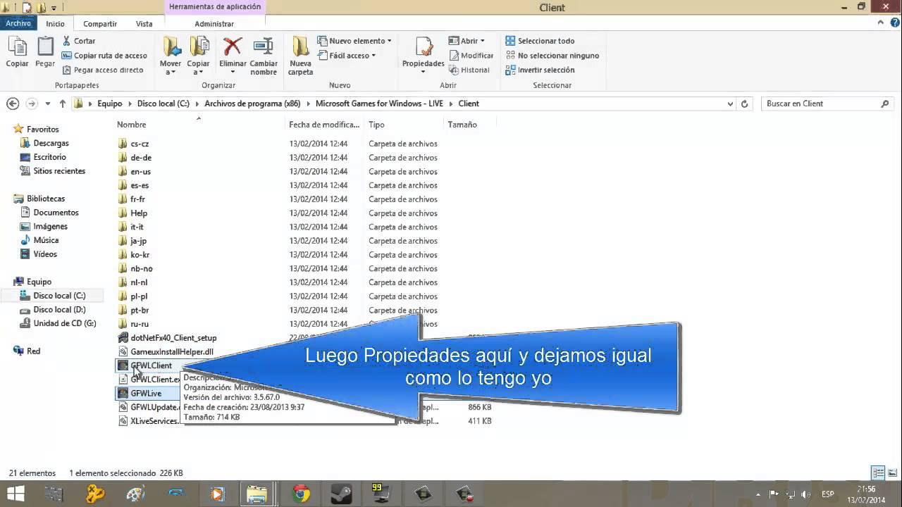 Solucionar Problema De Conexión Games For Windows Live