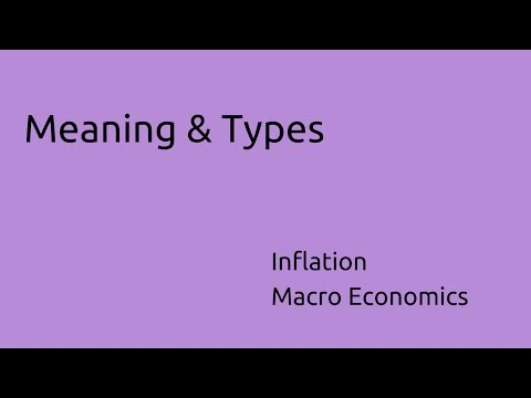 Meaning & Types of Inflation | Inflation | CA CPT | CS & CMA Foundation  | Class 11 | Class 12