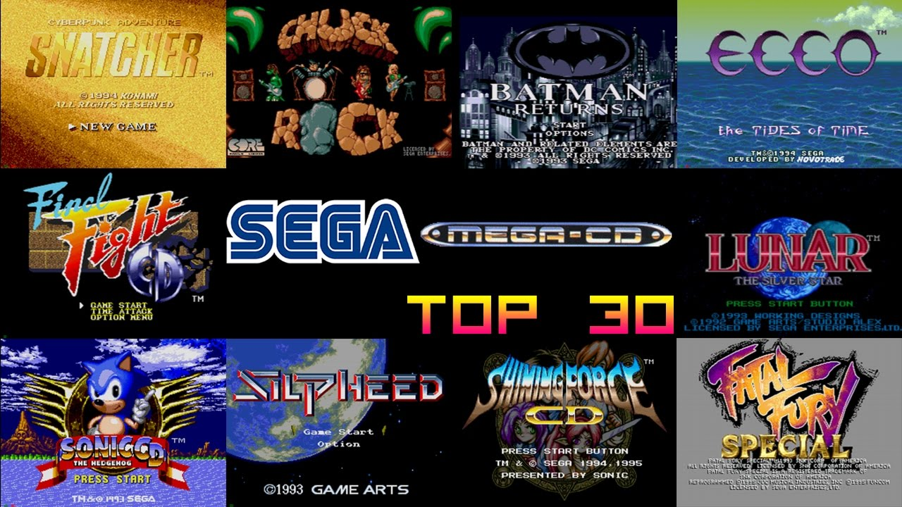 SEGA Mega-CD Top 30 Games