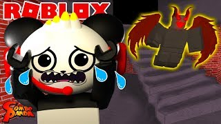 WHAT'S IN THE HOTEL BASEMENT IN ROBLOX ! Let's Play Roblox Basement Story with Combo Panda