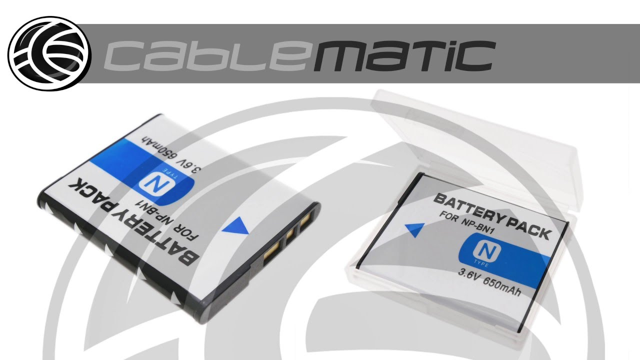Batera Compatible Con Sonynp Bn1 Para Dsc W330 W320 W310 W380 Battery Sony Np Distribuido Por Cablematic
