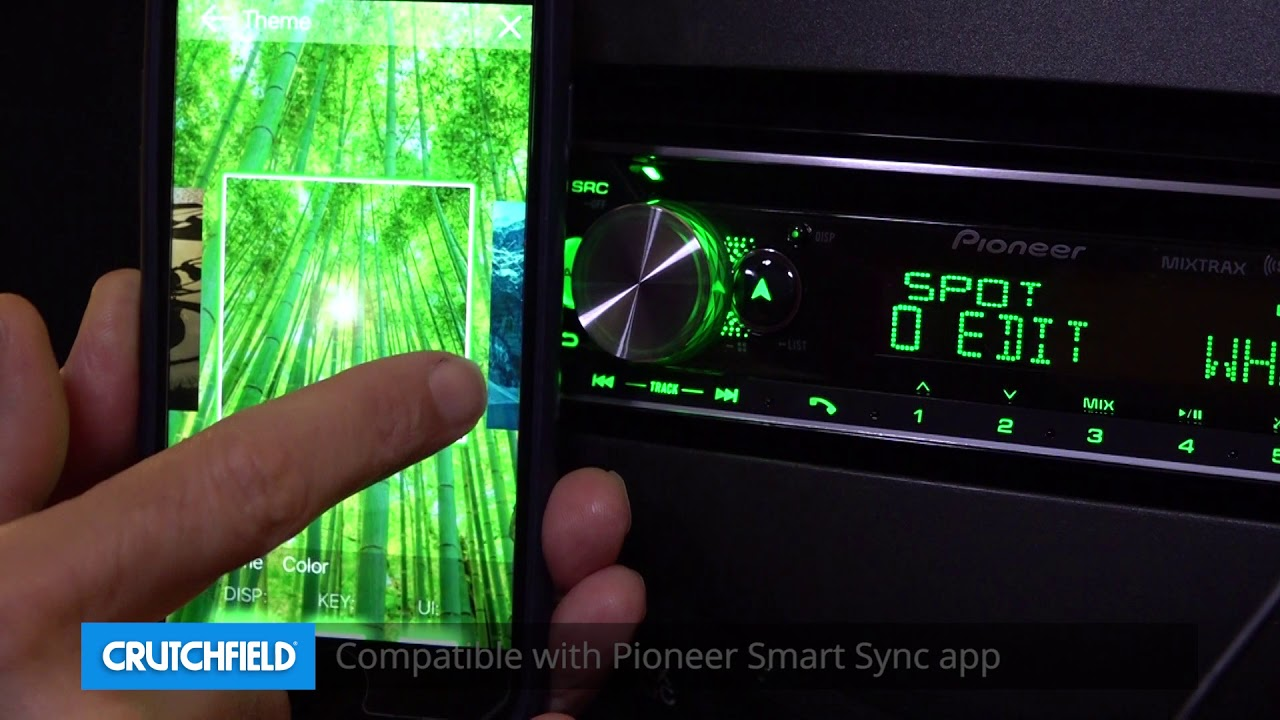 Pioneer DEH-S6120BS Display and Controls Demo   Crutchfield Video