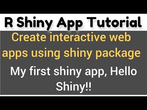R Shiny App Tutorial # 2 - How To Make Shiny Apps - My First Shiny App, Hello Shiny!!