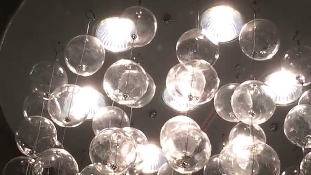 Xiertek Uisa Heidi Lighting Lizzy Floating Bubbles 7 Light Flushmount Ceiling Chandelier