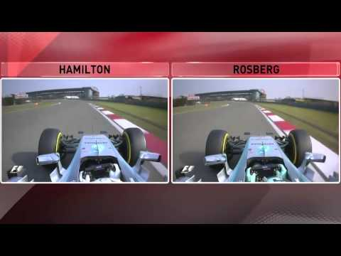 F1 2015  Chinese GP Hamilton vs Rosberg  Qualifing Lap