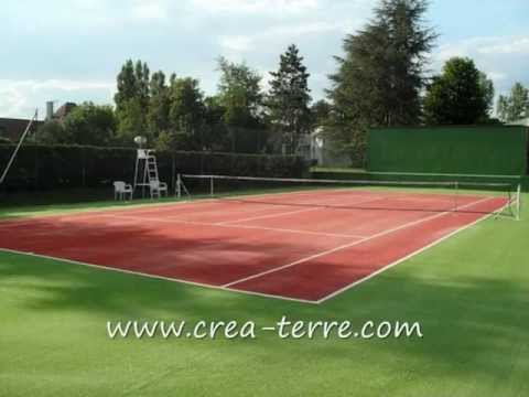 construction de courts de tennis en gazon synthétique CREA-TERRE ...