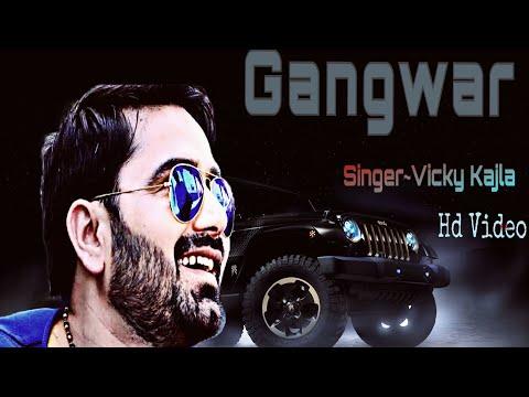 Gangwars Lyrical Video  Vicky Kajla  Sumit Goswami  Latest Haryanvi Song 2018