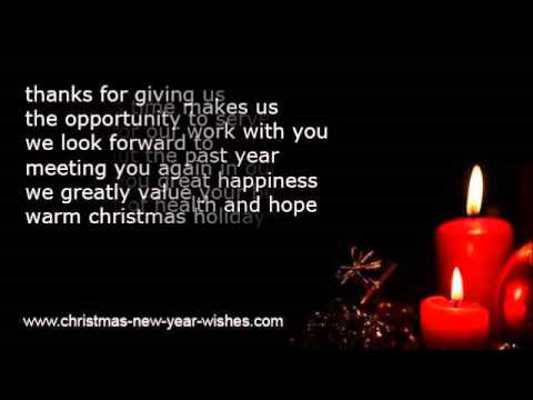 Christmas messages greetings clients and customers youtube christmas messages greetings clients and customers m4hsunfo