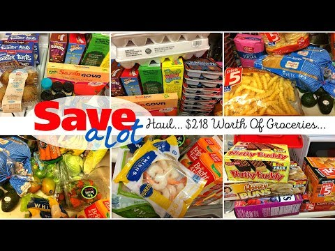 Save-A-Lot Haul... $218 Worth Of Groceries...