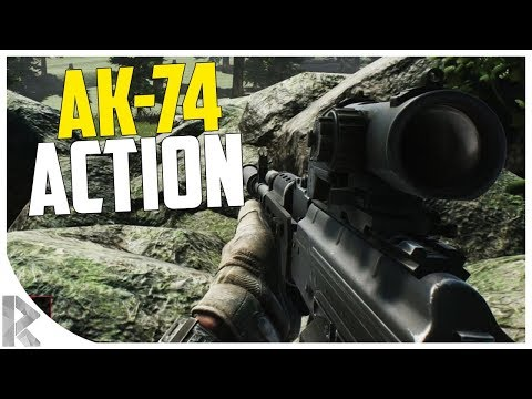 Suppressed AK-74 Action! - Escape from Tarkov on Woods