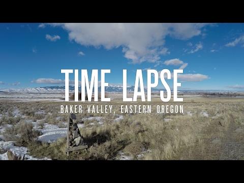 Time Lapse 4k - Baker Valley, Baker City, Eastern Oregon