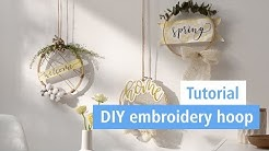 Embroidery hoop ▪ DIY Tutorial   STAEDTLER