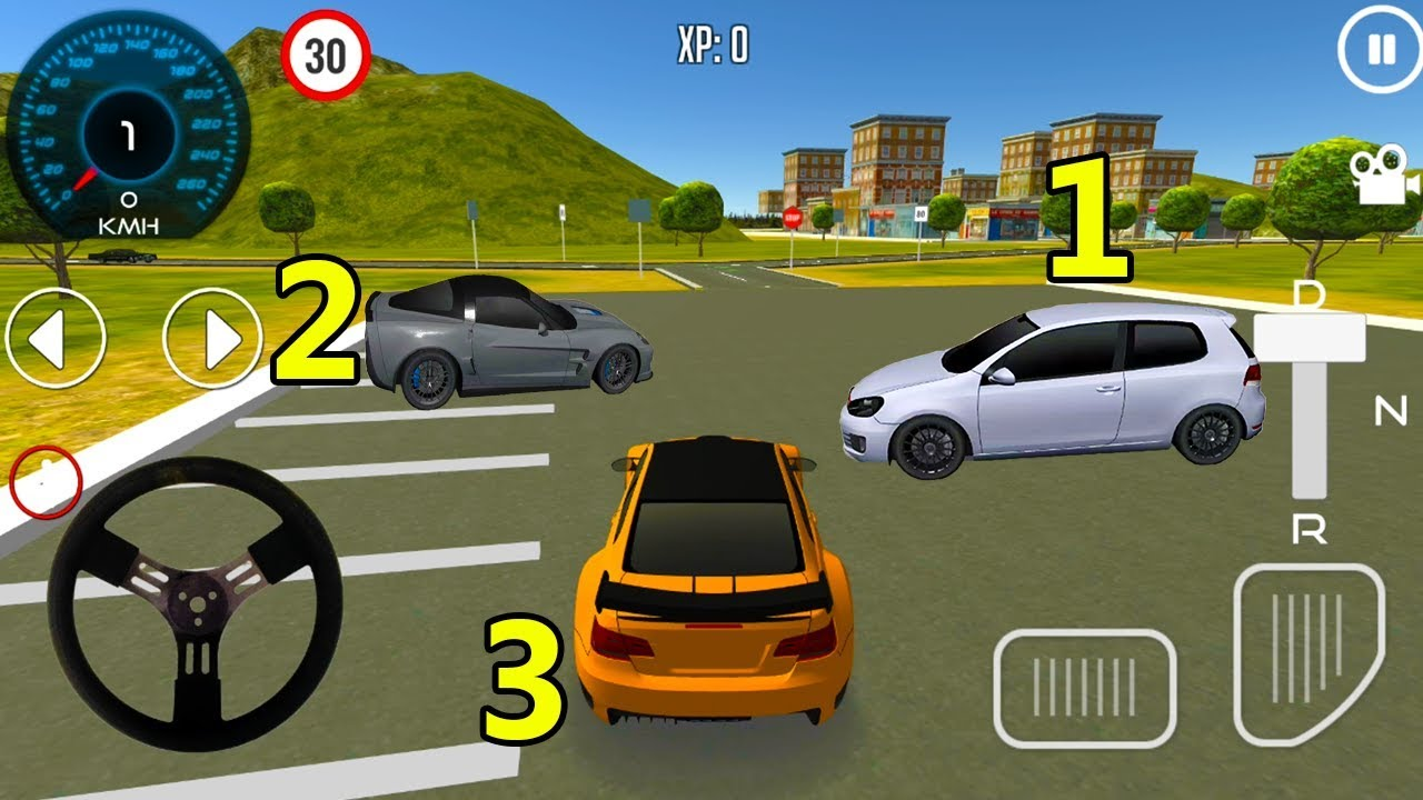 Car Driving School 3D First 3 Cars Unlocked Android Gameplay 2018 #28