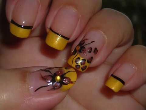 Nail art wild flower dise o de u as flor salvaje - Diseno d unas ...