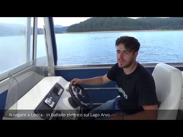 Giro sul lago Arvo a bordo di battello elettrico - Lorica
