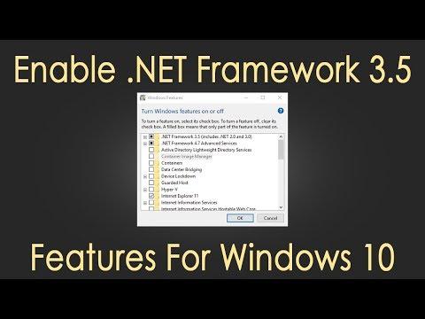 Cara Mengaktifkan Net Framework 3.5 Di Windows 10