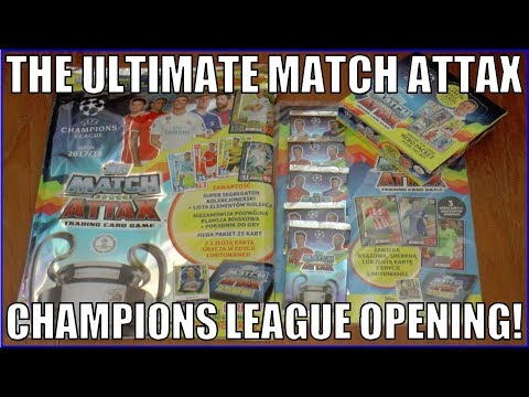 UK PREMIERE! ULTIMATE Match Attax Champions League 2017/18 VIDEO Booster Box, Multipack & Starter