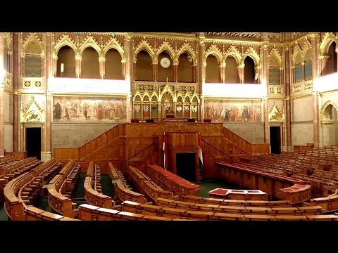 Inside Budapest's Parliament in Hungary