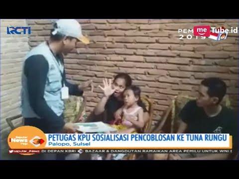 Petugas KPU Kota Palopo Sosialisasi Pencoblosan ke Teman Tuli - SIP 15/04