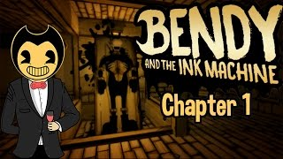 Lets Play Bendy and the Ink Machine - HERE'S BENDY!!! - BATIM - Chapter 1