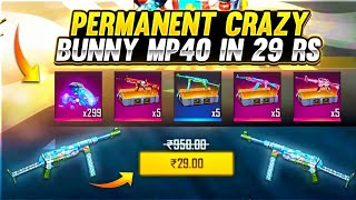 I Got Crazy Bunny Mp40 Permanent 😱 in 29 Rs | 1 Spin Trick - #Garena Free Fire