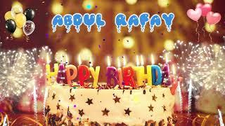 ABDUL RAFAY Birthday Song – Happy Birthday Abdul Rafay