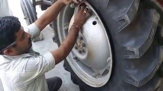 Tractor Tyre Changing Video - Do-It-Yourself