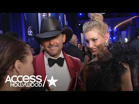 Tim McGraw & Faith Hill On Being Best-Dressed On The 2017 CMAs Red Carpet | Access Hollywood