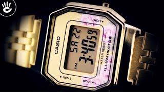 Review Đồng Hồ Casio LA680WGA-4CDF vỏ máy kiểu dáng vuông mạ vàng