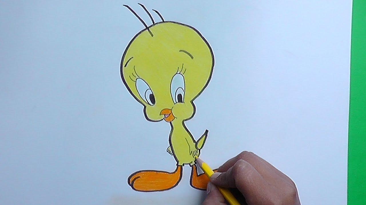 Dibujos Para Colorear Faciles De Hacer De Piolin: Dibujar Y Colorear A Pollito Piolin (Looney Tunes)