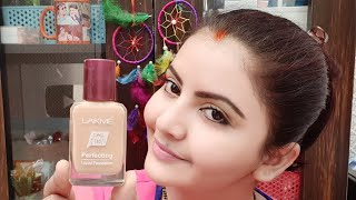 Lakme perfecting liquid foundation demo AFFORDABLE matte finish foundation for summers RARA