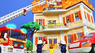 PLAYMOBIL Film deutsch: Rettungsaktion vom PLAYMOBIL FEUERWEHRMANN | Familie Kinderfilm Kinderserie