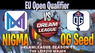 NIGMA vs OG Seed | Bo3 | EU Open Qualifier DreamLeague Season 13 | NO CASTER | Dota 2 Pro