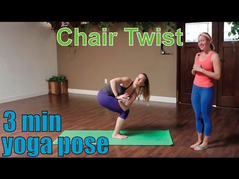 3 Minute Yoga Pose Chair Twist