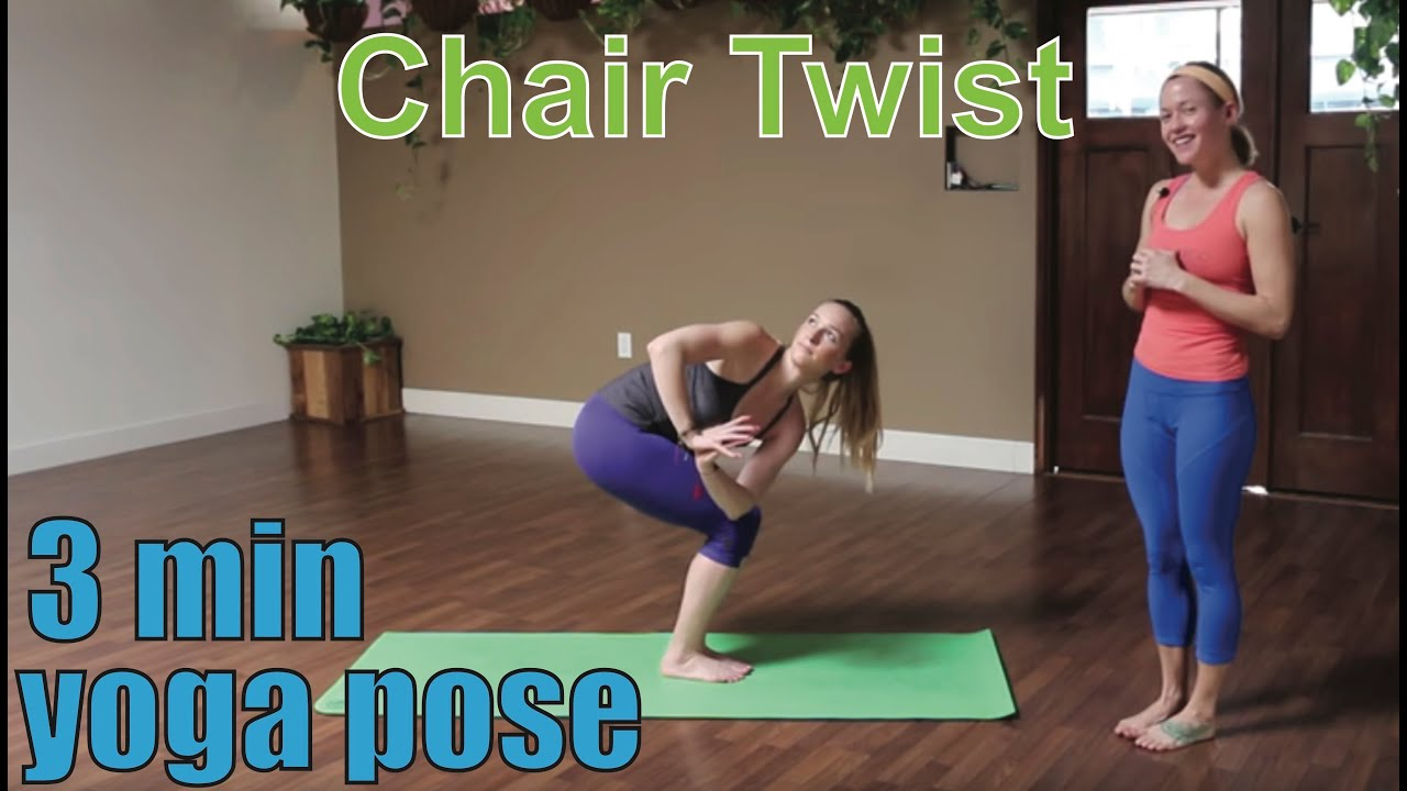 youtube chair yoga childrens desk and set sri lanka 3 minute pose twist