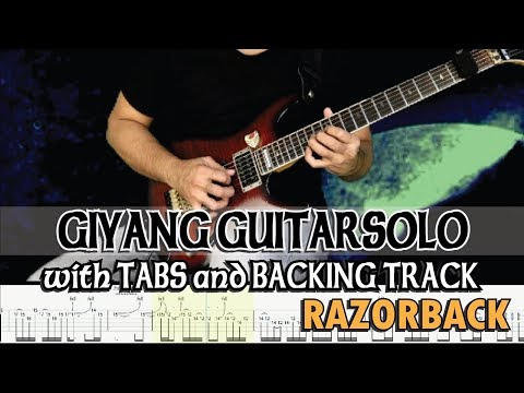 RAZORBACK | GIYANG SOLO With GUITAR PRO 7 TABS And BACKING TRACK | ALVIN DE LEON (2019)