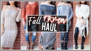 Fall Fashion Nova TRY-ON Haul ♡ Jeans, Sweaters, etc.! ♡