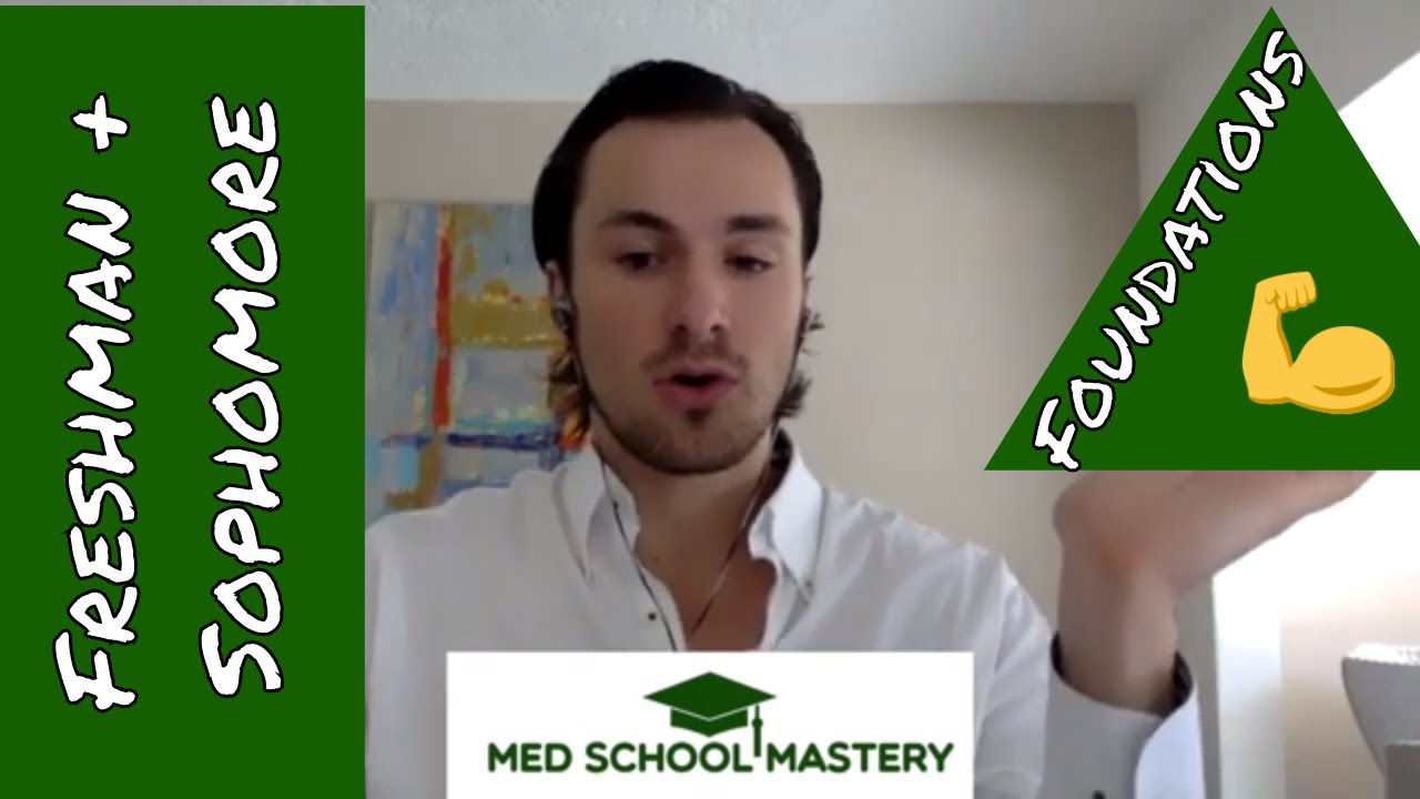 Pre-Med Strategy Call: setting a solid foundation as a Freshman, Sophomore, or young premed