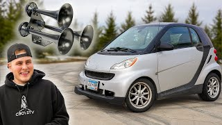 Putting Train Horns on my Smart Car!!