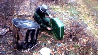 Foot Operated Suitcase Drum - One Man Band Demo - Taylor Asiong Aglipay