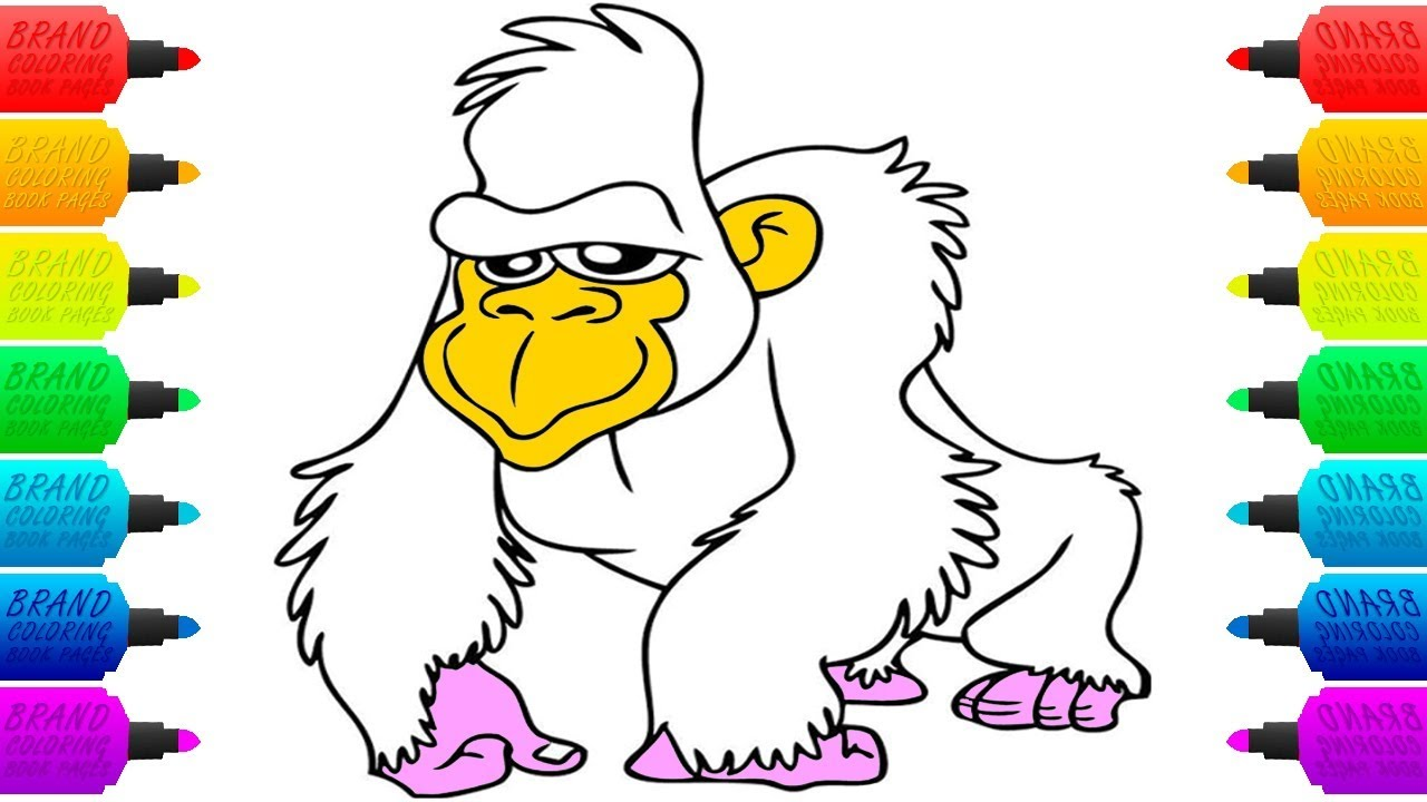 Gorilla Coloring Book Pages