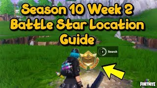 Fortnite Battle Royale - Season 10 Week 2 Secret Battle Star Location Guide Sundown Challenges