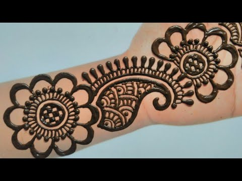simple mehndi ki design
