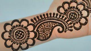 Full Hand Arabic Mehndi Design||Simple Mehndi Design||Mehendi||मेंहदी डिज़ाईन