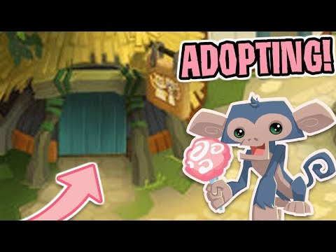 ADOPTING KIDS ON ANIMAL JAM!