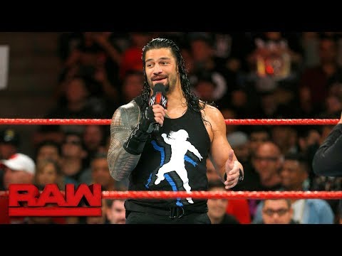"Roman Reigns delivers a parting shot to ""movie star"" John Cena: Raw, Sept. 18, 2017"