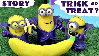 Funny Halloween Prank Minions Play Doh Thomas and Friends with Peppa Pig and Sofia The First