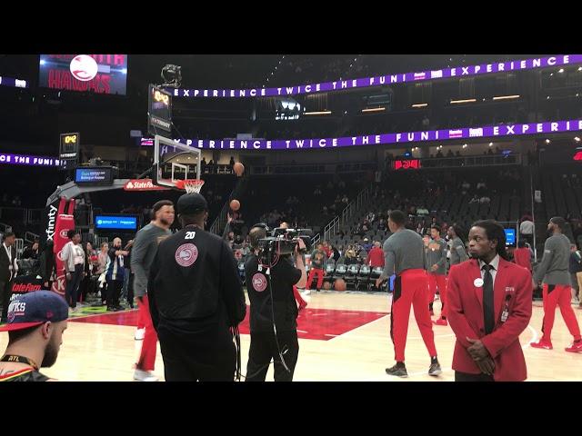 Atlanta Hawks Warming Up Shooting Jumpers ... Hawks vs Pelicans ... 3/10/19