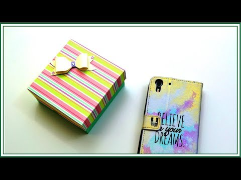 Easy Paper Box Card | Father's day Gift Ideas! DIY Paper Crafts by Giulia's Art