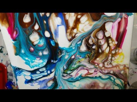 Tri Art Liquid Glass Pouring Medium. Video #18
